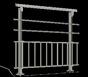 Barrière pas cher en aluminium inox