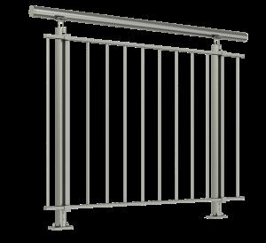 barrière horizontal en aluminium aspect inox